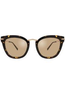 Óculos De Sol Max Mara Needle Ix Feminino - Feminino-Marrom