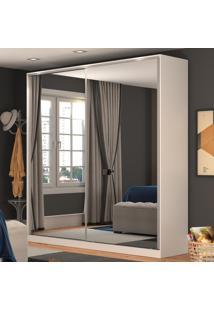 Guarda-Roupa Casal 2 Portas Correr 2 Espelhos 100% Mdf Rc2006 Branco - Nova Mobile