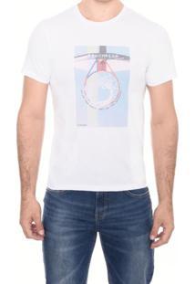 Camiseta Slim M/C Gola C Subl Toughness M.Officer Branco