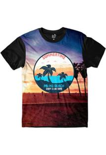 Camiseta Long Beach California Palmeiras Sublimada Masculina - Masculino-Roxo