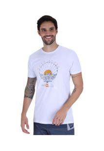 Camiseta Hang Loose Silk Shellogo - Masculina - Branco