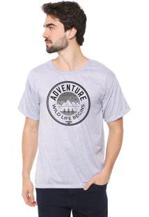 Camiseta Eco Canyon Wild Life Begins Cinza
