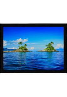 Capacho - Tapete Colours Creative Photo Decor - Ilhas Em Angra Dos Reis No Rj Azul