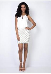 Vestido Blusa Transpassada Lança Perfume - Feminino-Off White