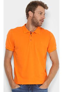 Camisa Polo Gangster Piquet Elastano Masculina - Masculino-Laranja