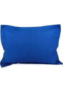 Porta Travesseiro Avulso Matelado - Appel - Azul