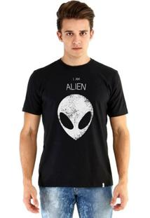Camiseta Ouroboros Manga Curta Alien - Masculino-Preto