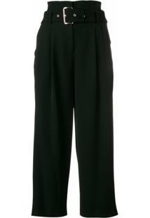 Michael Michael Kors Calça Pantalona Com Cinto - Preto