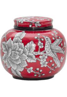 Vaso De Porcelana Hummingbird