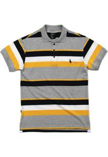 Camisa Simple Skateboard Gola Polo Basic Yellow