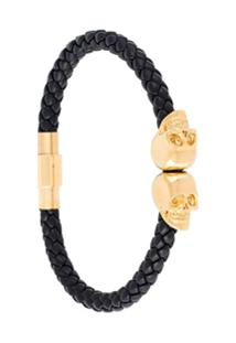 Northskull Bracelete Com Detalhe Banhado A Ouro - Preto