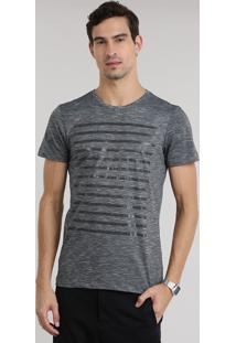 Camiseta Flamê Com Listras Preta