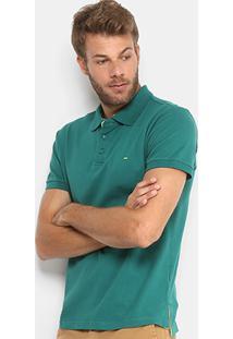 Camisa Polo Gangster Piquet Com Elastano Masculina - Masculino-Verde Escuro