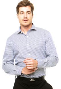 Camisa Perry Ellis Padrão Azul