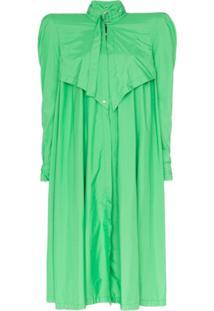 Montana Pelerine Oversized Com Abertura Frontal - Verde