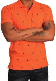 Camisa Polo Rockstar Coroa Laranja