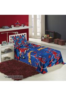 Jogo De Cama Spider Man® Solteiro- Azul Escuro & Vermelhlepper
