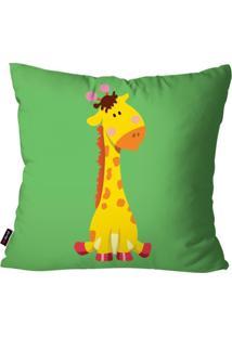 Capa De Almofada Pump Up Avulsa Verde Girafa 45X45Cm
