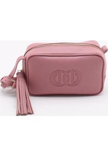 Bolsa Shoulder Bag Couro Rose Vintage - M