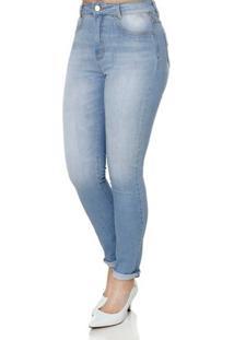 Calça Jeans Feminina Sawary Azul