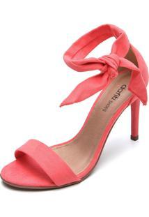 Sandália Dafiti Shoes Nó Coral