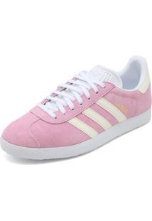 Tênis Couro Adidas Originals Gazelle W Rosa