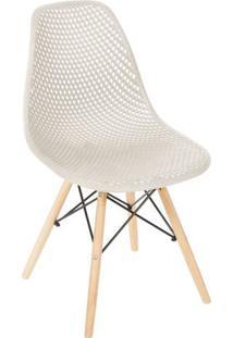 Cadeira Eames Colmeia- Fendi & Bege Claro- 82,5X46,5Or Design