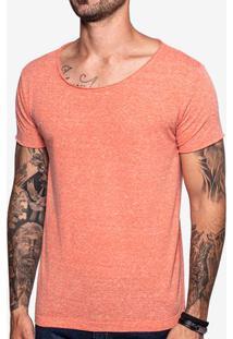 Camiseta Gola Canoa Laranja 103556