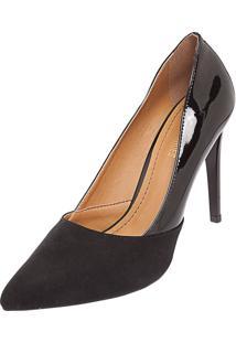 Scarpin Dafiti Shoes Fino Recorte Preto