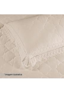 Porta Travesseiro Cristal Renascenã§A Em Percal- Pã©Rola
