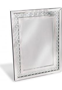 Espelho De Parede Retangular Mosaico 60Cmx80Cm Nakine