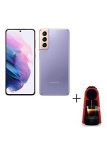 Samsung Galaxy S21 Violeta, Tela 6,2, 128Gb, - Sm-G991Bzvjzto + Cafeteira Nespresso 110V Cafe Espresso - C30-Br