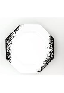 Conjunto De Pratos Rasos Porcelana Schmidt 06 Peças - Dec. Pixel