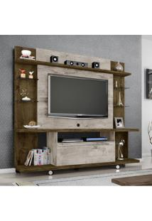 Estante Home Para Tv Até 55 Polegadas 1 Porta New Torino Móveis Bechara Madeira Rústica/Vanilla Rústico