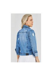 Jaqueta Jeans Outlet Premium Lorena Azul