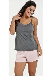 Pijama Feminino Renda Alças Finas Marisa