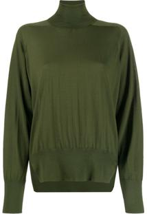 Boon The Shop Roll Neck Boxy Sweater - Verde