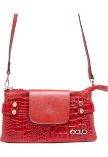 Bolsa Em Couro Recuo Fashion Bag Transversal Vermelho