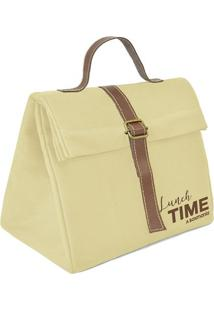 "Bolsa Tã©Rmica Triã¢Ngulo ""Lunch Time""- Off White & Marromboxmania"