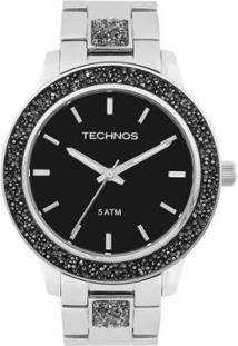 Relógio Technos Crystal Analógico 2035Mfe/1P Feminino - Feminino-Prata