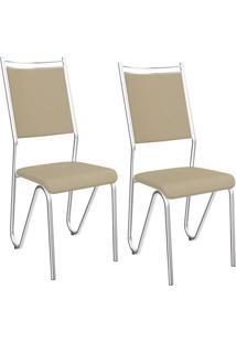 Kit Com 2 Cadeiras Kappesberg Londres Com Acabamento Cromado - 2C056Cr