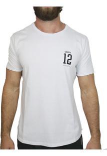 Camiseta Manga Curta La Moustache College 12 Branca