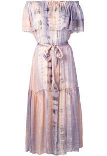 Raquel Allegra Vestido Midi Tie Dye - Rosa