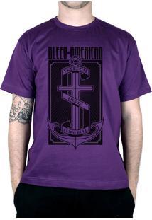 Camiseta Bleed American The Anchor Roxo