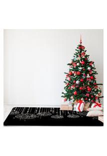Tapete De Natal Para Sala Bolas Natalinas Moderna Único