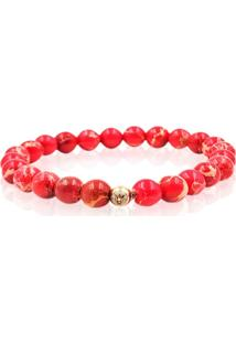 Pulseira Red Imperial Jasper Stone