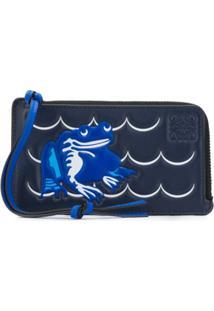 Loewe Porta-Moedas Com Sapo Gravado - Azul