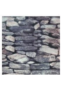 Kit 4 Rolos De Papel De Parede Fwb Lavável 3D Pedra Rustico Cinza