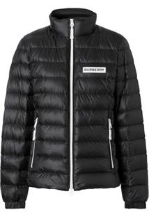 Burberry Chest Logo Puffer Jacket - Preto
