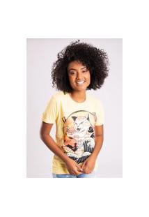 Camiseta Bossa Brasil Cat Amarelo